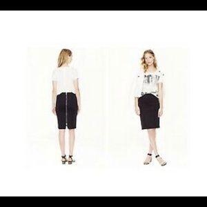 J. Crew Back Zipper Pencil Skirt